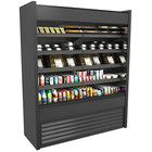 Structural Concepts Oasis B62-QS Black 66 3/8 inch Narrow Depth Air Curtain Merchandiser Refrigerator - 28.96 Cu. Ft., 208-240V
