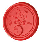 GET LID-88121-R Disposable Red Plastic Lid with Straw Slot for 3 inch Diameter Tumblers - 2000/Case