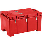 Cambro 100MPCHL158 Camcarrier Red Top loading Pan Carrier with Hinged Lid for 12 inch x 20 inch Food Pans