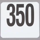 American Metalcraft 4350 Plastic Table Number Set - Numbers 301 - 350