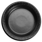 Dart Solo 6PBQR Quiet Classic 6 inch Black Laminated Round Foam Plate - 1000/Case
