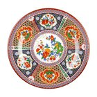 Peacock 6 7/8 inch Round Melamine Plate - 12/Pack