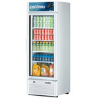 Turbo Air TGM-23SD White 27 inch Super Deluxe Single Door Refrigerated Merchandiser - 21.1 Cu. Ft.