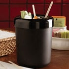 American Metalcraft MELWB Black Melamine Table Top Waste Bin