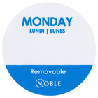 Noble Products Monday 1 inch Removable Day of the Week Dot Label - 1000/Roll