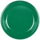 Creative Converting 28112031 10 inch Emerald Green Plastic Banquet Plate - 240 / Case