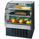 Beverage Air CDR4/1-B-20 Black Curved Glass Refrigerated Bakery Display Case 49 inch - 18.1 Cu. Ft.