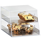 Cal-Mil 258 Classic Two Tier Acrylic Display Case with Front Drawers - 10 1/4 inch x 14 inch x 18 1/2 inch