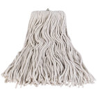 Continental A503324 24 oz. Cut End Natural Cotton Mop Head with Screw-On Band