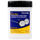 Taylor 9999T Anti-Bacterial Thermometer Probe Wipes - 70 / Pack