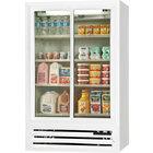 Beverage Air LV15-1-W-LED White Lumavue Refrigerated Sliding Glass Door Merchandiser - 15 Cu. Ft.