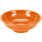 Homer Laughlin 765325 Fiesta Tangerine 2 Qt. Pedestal Serving Bowl - 4 / Case