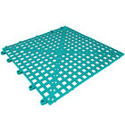 Cactus Mat 2554-TLT Dri-Dek 12 inch x 12 inch Teal Vinyl Interlocking Drainage Floor Tile - 9/16 inch Thick