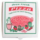 7 inch x 7 inch x 1 3/4 inch White Corrugated Pizza Box - 100 / Case
