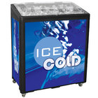 Black SS Freeze Jr. 2080 Mobile 90 qt. Cooler Merchandiser