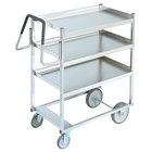 Vollrath 97203 Heavy-Duty Stainless Steel 3 Shelf Utility Cart - 44 inch x 23 inch x 44 1/2 inch