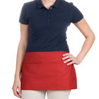 Choice 12 inch x 24 inch Red Front of the House Waist Apron