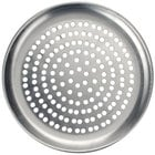 American Metalcraft CTP14P 14 inch Perforated Standard Weight Aluminum Coupe Pizza Pan