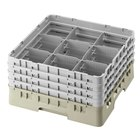 Cambro Full Size 9 Compartment Glass Racks, 5 1/4