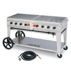 Crown Verity RCB-60-SI 60 inch Outdoor Rental Grill with Single Gas Connection