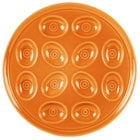 Homer Laughlin 724325 Fiesta Tangerine 11 1/4 inch Egg Tray - 4 / Case