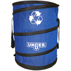 Unger NB30B Nifty Nabber Blue 40 Gallon Portable Garbage Can