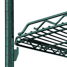 Metro HDM1448Q-DHG qwikSLOT Drop Mat Hunter Green Wire Shelf - 14 inch x 48 inch
