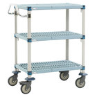 Metro MQUC2436G-25 MetroMax Q Utility Cart with 5 inch Polyurethane Casters 24 inch x 36 inch