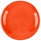 Carlisle 4300652 Durus 7 1/4 inch Sunset Orange Narrow Rim Melamine Plate - 48/Case