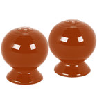 Homer Laughlin 497334 Fiesta Paprika Salt and Pepper Set - 4/Case