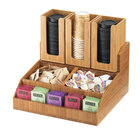 Cal-Mil 2019-60 Bamboo Condiment Organizer - 15 inch x 14 inch x 9 1/2 inch