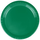 Creative Converting 28112011 7 inch Emerald Green Plastic Lunch Plate - 240 / Case