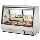 True TDBD-72-2 72 inch Two Door Double Duty Refrigerated Deli Case - 35 Cu. Ft.