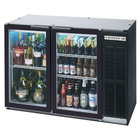 Beverage Air BB48GY-1-BK-WINE 48 inch Black Back Bar Wine Series Refrigerator - Narrow Depth, 2 Glass Doors