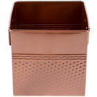 American Metalcraft BEVC655 1/6 Size Copper Square Hammered Beverage Tub - 6 1/4