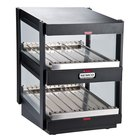 Nemco 6480-18SB Black 18 inch Slanted Double Shelf Merchandiser - 120V