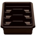 Cambro 1120CBR131 Dark Brown Plastic Regal Cutlery Box 11 inch x 20 inch