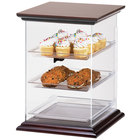 Cal-Mil 814-1-52 Westport Three Tier Wood Trim Display Case - 14 inch x 17 1/2 inch x 19 1/4 inch