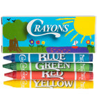 Choice 4 Pack Kids Restaurant Crayons - 100 Packs / Box