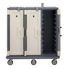 Cambro MDC1418T30191 Granite Gray 3 Compartment Meal Delivery Cart 30 Tray