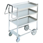 Vollrath 97201 Heavy-Duty Stainless Steel 3 Shelf Utility Cart - 39 inch x 20 inch x 44 1/2 inch