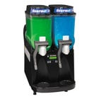 Bunn Ultra-2 Liquid Autofill Slushy / Granita Frozen Drink Machine with 2 Hoppers - Black 120V (Bunn 34000.0027)
