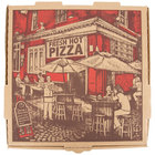 10 inch x 10 inch x 1 3/4 inch Kraft Corrugated Pizza Box - 50 / Case