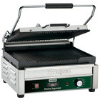 Waring WPG250TB 14 1/2 inch x 11 inch Panini Supremo Grooved Top & Bottom Panini Sandwich Grill with Timer - 208V
