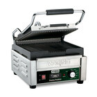 Waring WPG150TB 9 3/4 inch x 9 1/4 inch Panini Perfetto Grooved Top & Bottom Panini Sandwich Grill with Timer - 208V, 2400W