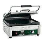 Waring WFG250T 14 1/2 inch x 11 inch Tostato Supremo Large Smooth Top & Bottom Panini Sandwich Grill with Timer - 120V