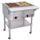 APW Wyott PSST2 Portable Steam Table - Two Pan - Sealed Well