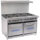Bakers Pride Restaurant Series 48-BP-8B-S20 8 Burner Gas Range with Two Space Saver 20 inch Ovens