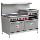 Commercial Gas Restaurant Ranges with Griddles