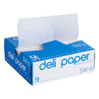 Durable Packaging 6 inch x 10 3/4 inch Interfolded Deli Wrap Wax Paper